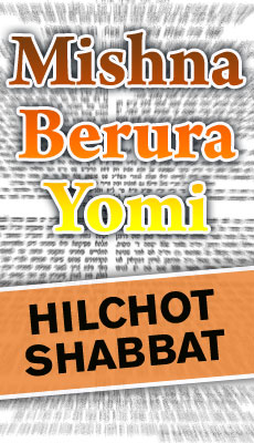 Mishna Brurah Yomi Hilchot Shabbat